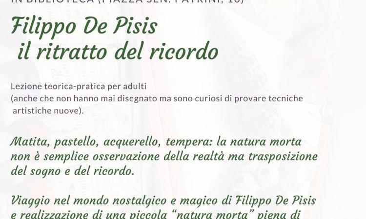 Locandina della lezione teorico pratica su Filippo De Pisis