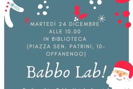 locandina del laboratori natalizio babbo lab